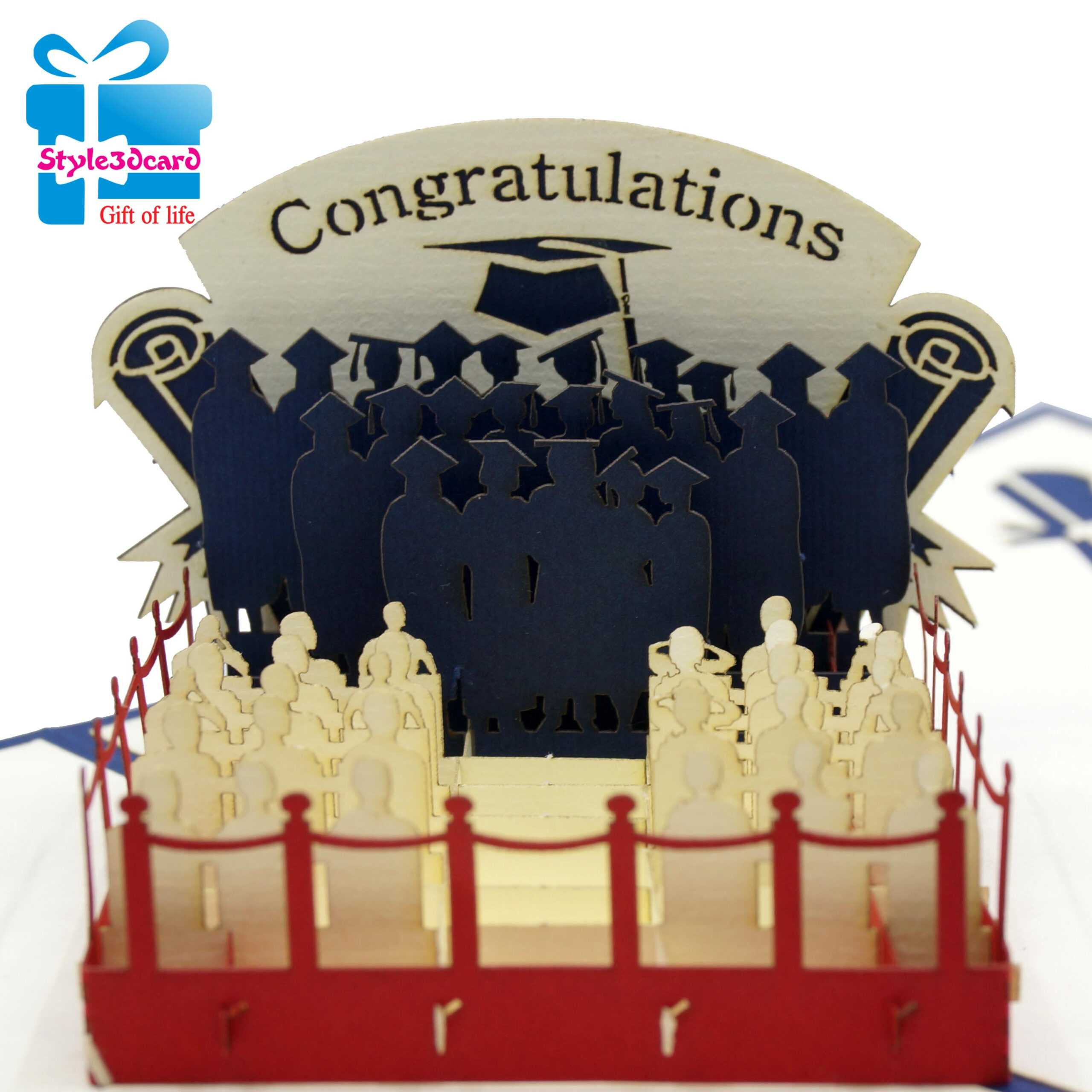 Greeting 3D Pop Up Card In Graduation Pop Up Card Template