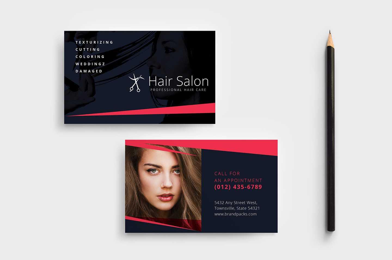 Hair Salon Business Card Template In Psd, Ai & Vector With Hair Salon Business Card Template