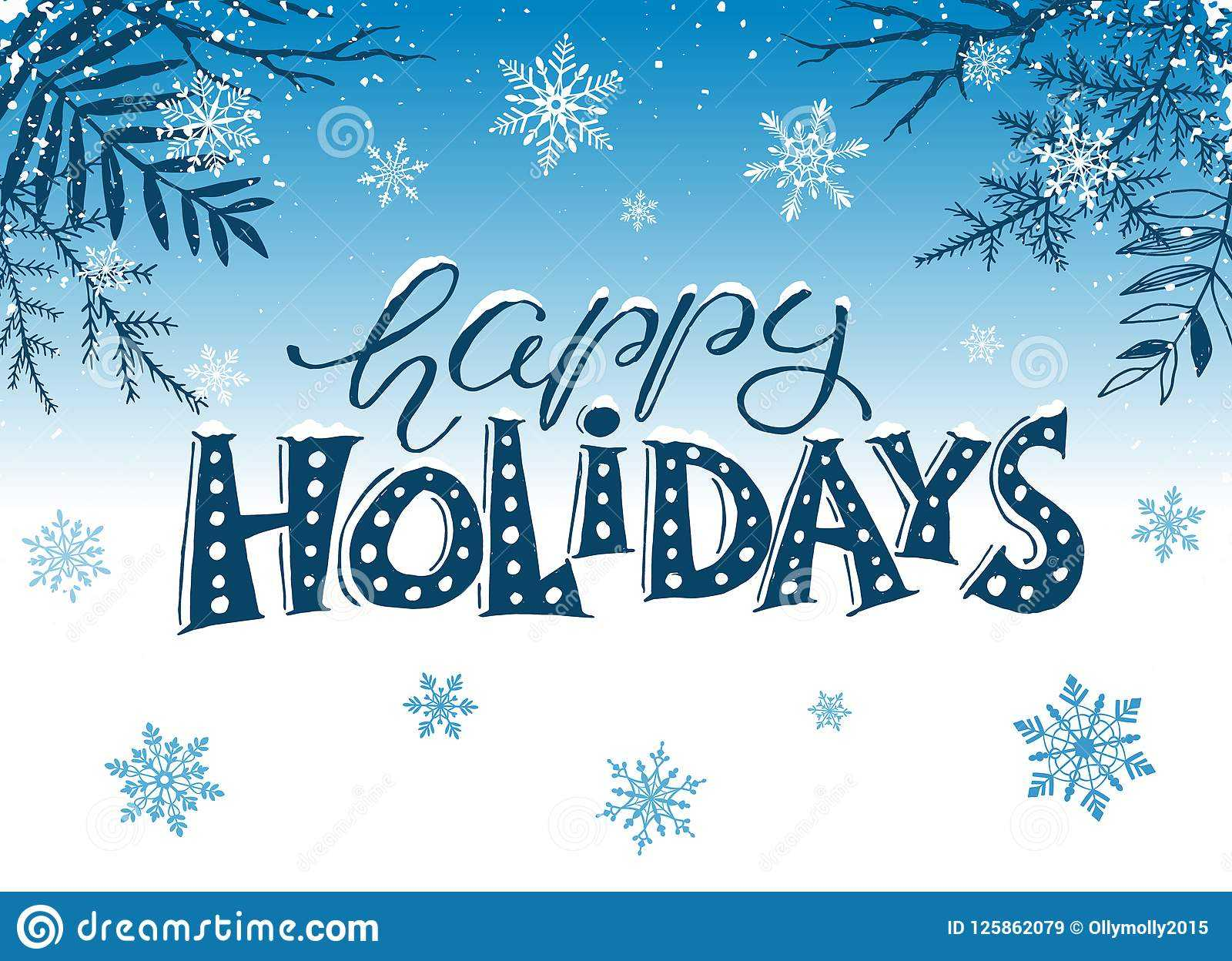Happy Holidays Greeting Card Stock Vector - Illustration Of Regarding Happy Holidays Card Template