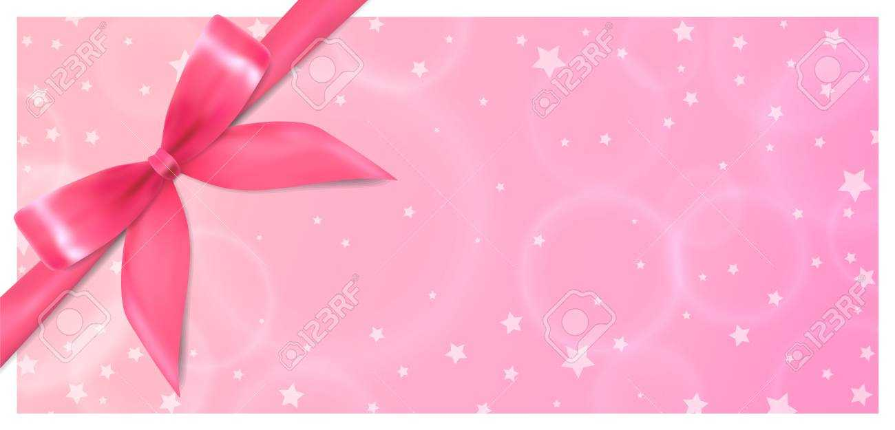 Holiday Gift Certificate, Gift Voucher, Coupon Template. Pink.. Inside Pink Gift Certificate Template