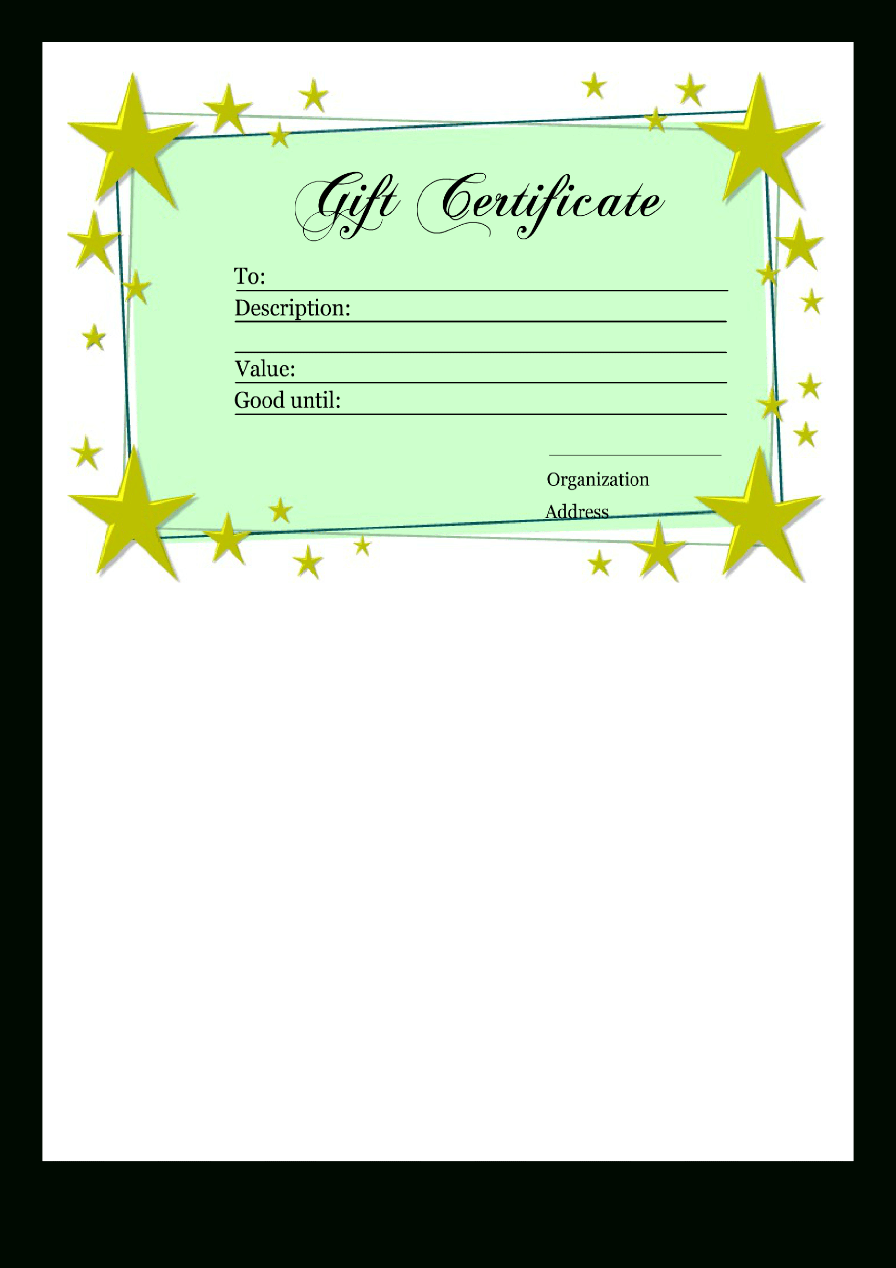 Homemade Gift Certificate Template | Templates At Pertaining To Homemade Gift Certificate Template