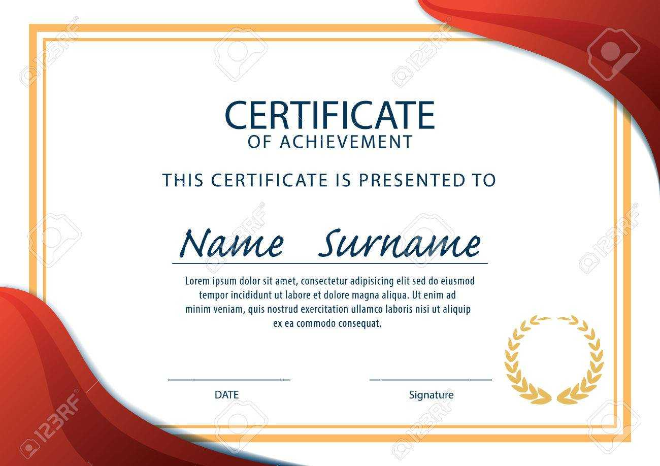 Horizontal Certificate Template,diploma,a4 Size ,vector Throughout Certificate Template Size