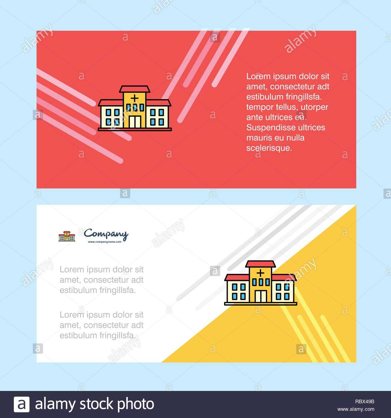 Hospital Abstract Corporate Business Banner Template Within Chiropractic Travel Card Template