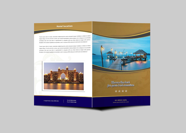 Hotel Resort Bi Fold Brochure Design Template | Psd Premium Inside Hotel Brochure Design Templates