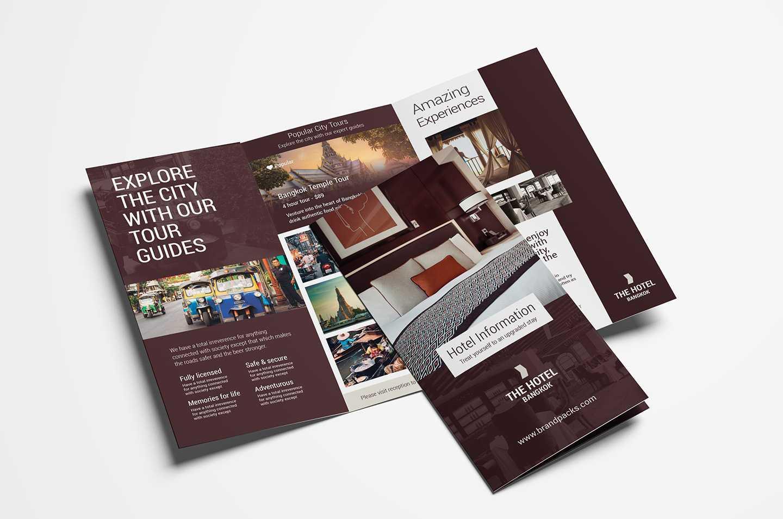 Hotel Tri Fold Brochure Template V2 - Psd, Ai & Vector Regarding Hotel Brochure Design Templates