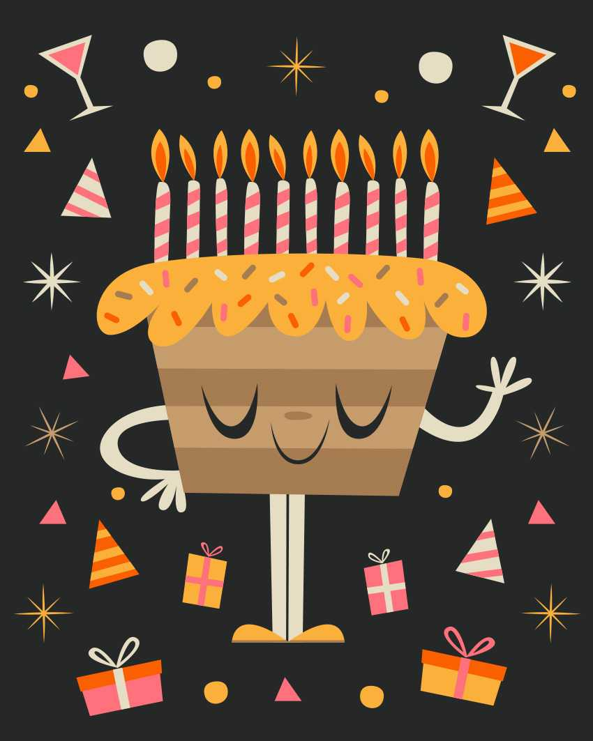 How To Create A Quirky Birthday Illustration In Adobe For Birthday Card Indesign Template