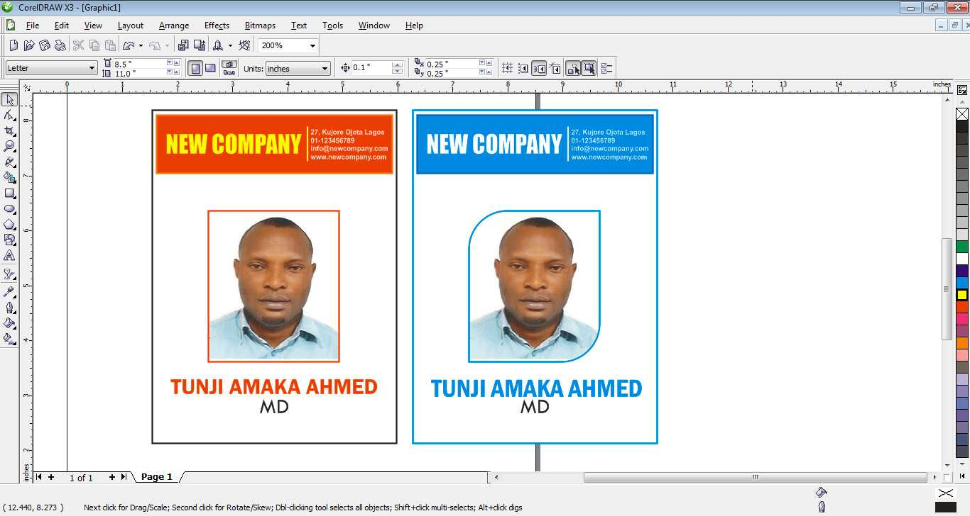 How To Design Id Card In Coreldraw – Free Tutorials For Intended For Id Card Template For Microsoft Word