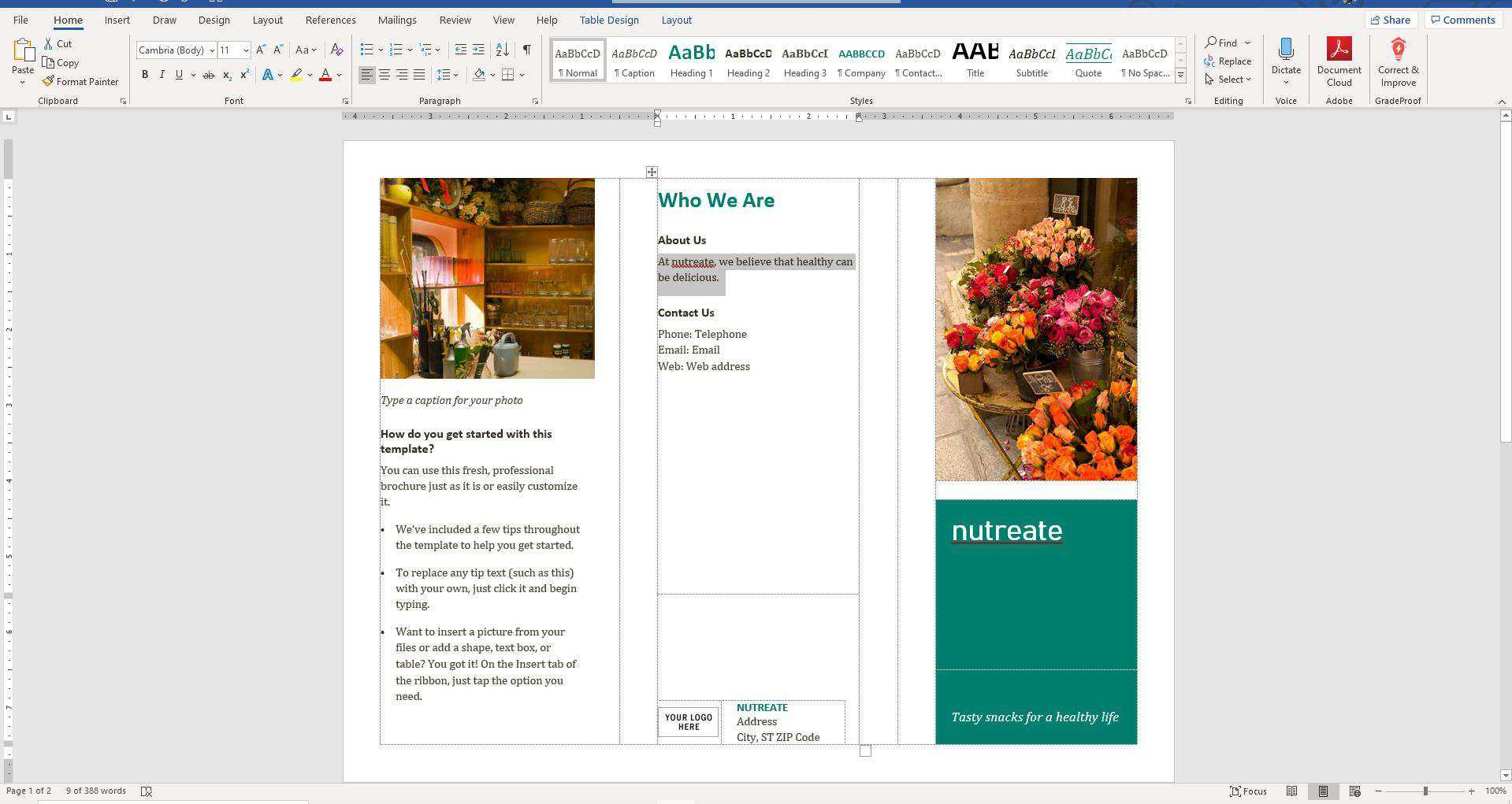 How To Make A Brochure On Microsoft Word In Ms Word Brochure Template