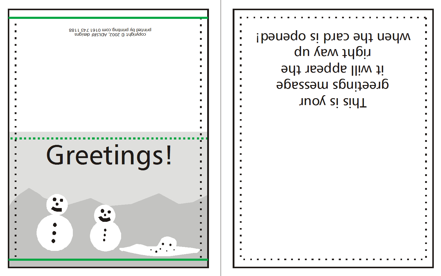 How To Supply Greeting/christmas Cards | Lishio Throughout Quarter Fold Birthday Card Template