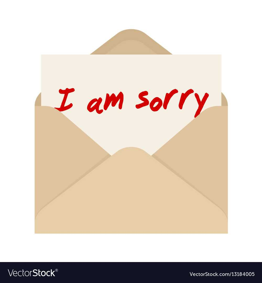 I Am Sorry Card In Brown Envelope The Letter Throughout Sorry Card Template