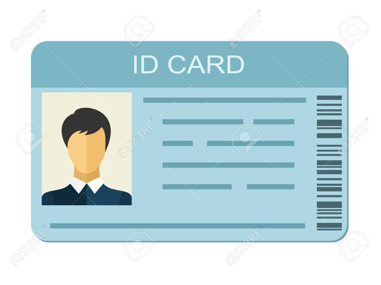 Id Card Isolated On White Background. Identification Card Icon Throughout Personal Identification Card Template