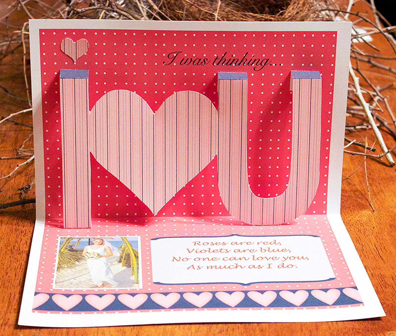Ideas For Making Homemade Pop Up Cards | Lovetoknow Pertaining To I Love You Pop Up Card Template
