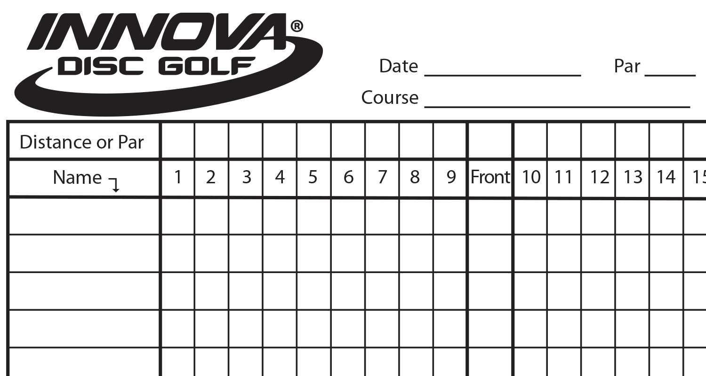 Innova Scorecard - Innova Disc Golf Pertaining To Golf Score Cards Template