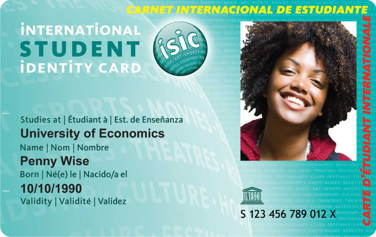 International Student Card With Regard To Isic Card Template