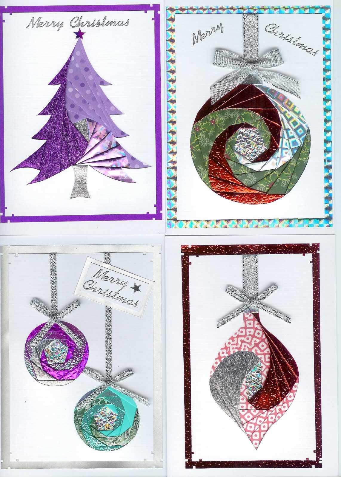 Iris Folding Christmas Cards Templates] Hand Made And Inside Iris Folding Christmas Cards Templates