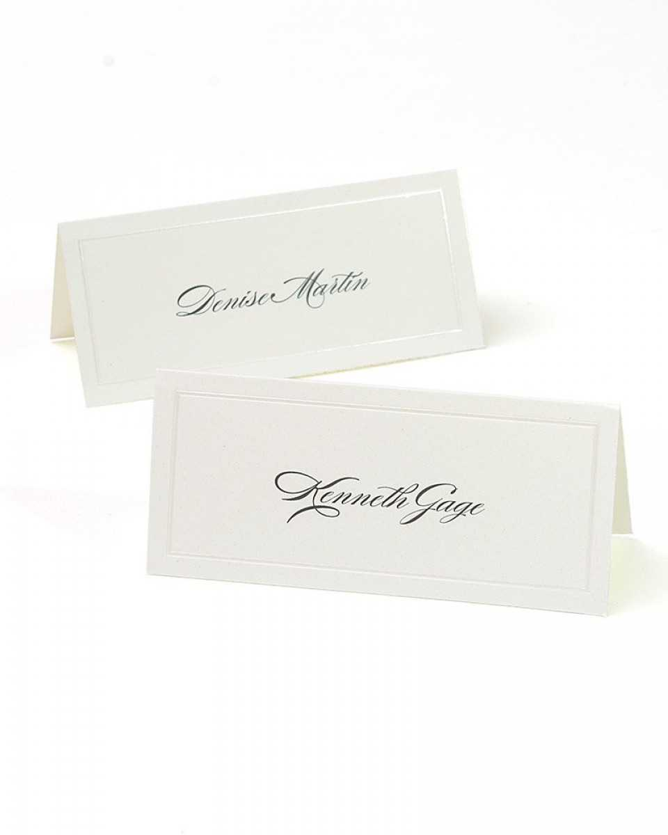 Ivory Pearl Border Printable Place Cards Pertaining To Gartner Studios Place Cards Template
