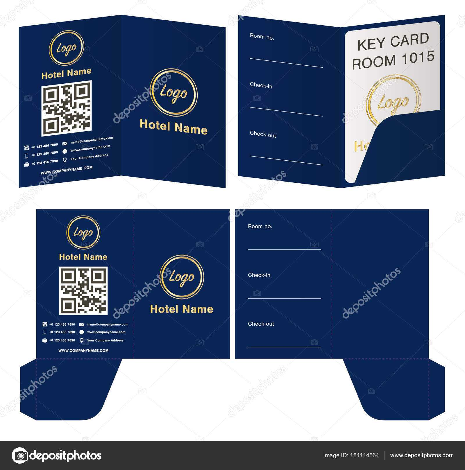 Key Card Holder Template | Hotel Key Card Holder Folder Regarding Hotel Key Card Template
