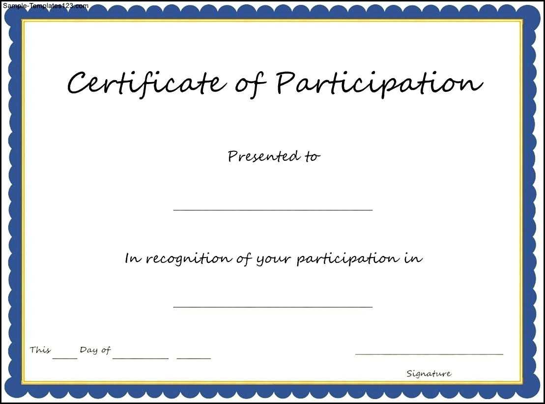 Key Components To Include On Certificate Of Participation Intended For Certificate Of Participation Template Doc