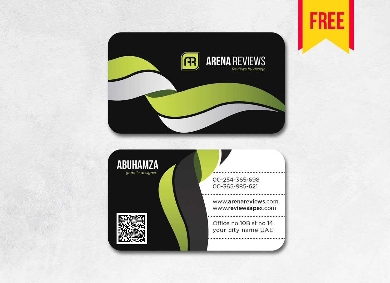 Latest Black Business Card Template Ai | Free Download With Visiting Card Illustrator Templates Download