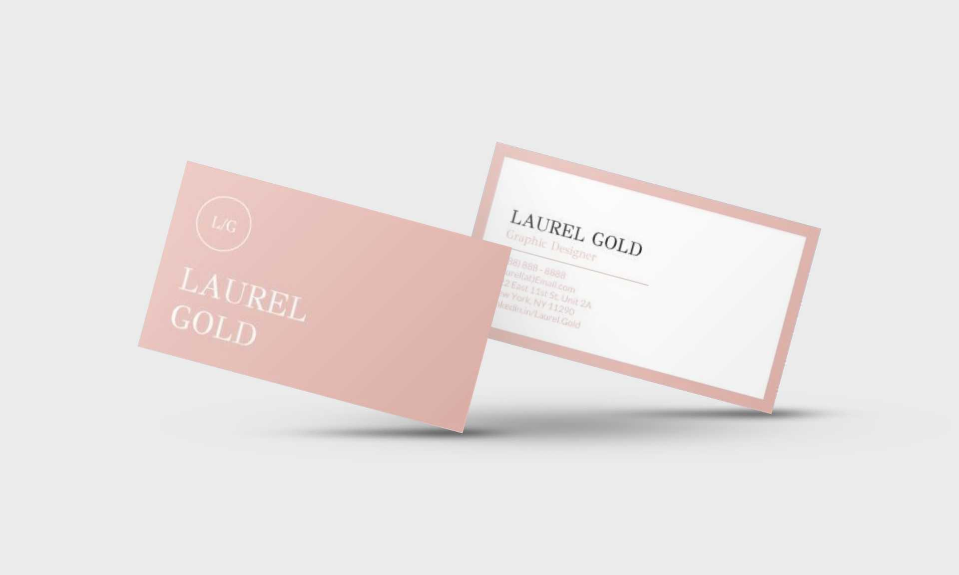 Laurel Gold Google Docs Business Card Template - Stand Out Shop For Google Docs Business Card Template