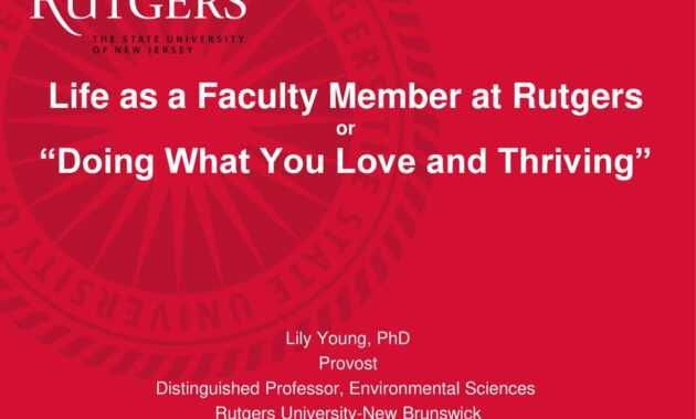 "Life As A Faculty Member At Rutgers Or ""Doing What You Love pertaining to Rutgers Powerpoint Template"