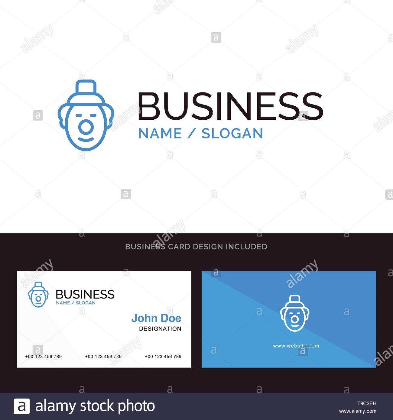 Logo And Business Card Template For Joker, Clown, Circus Within Joker Card Template