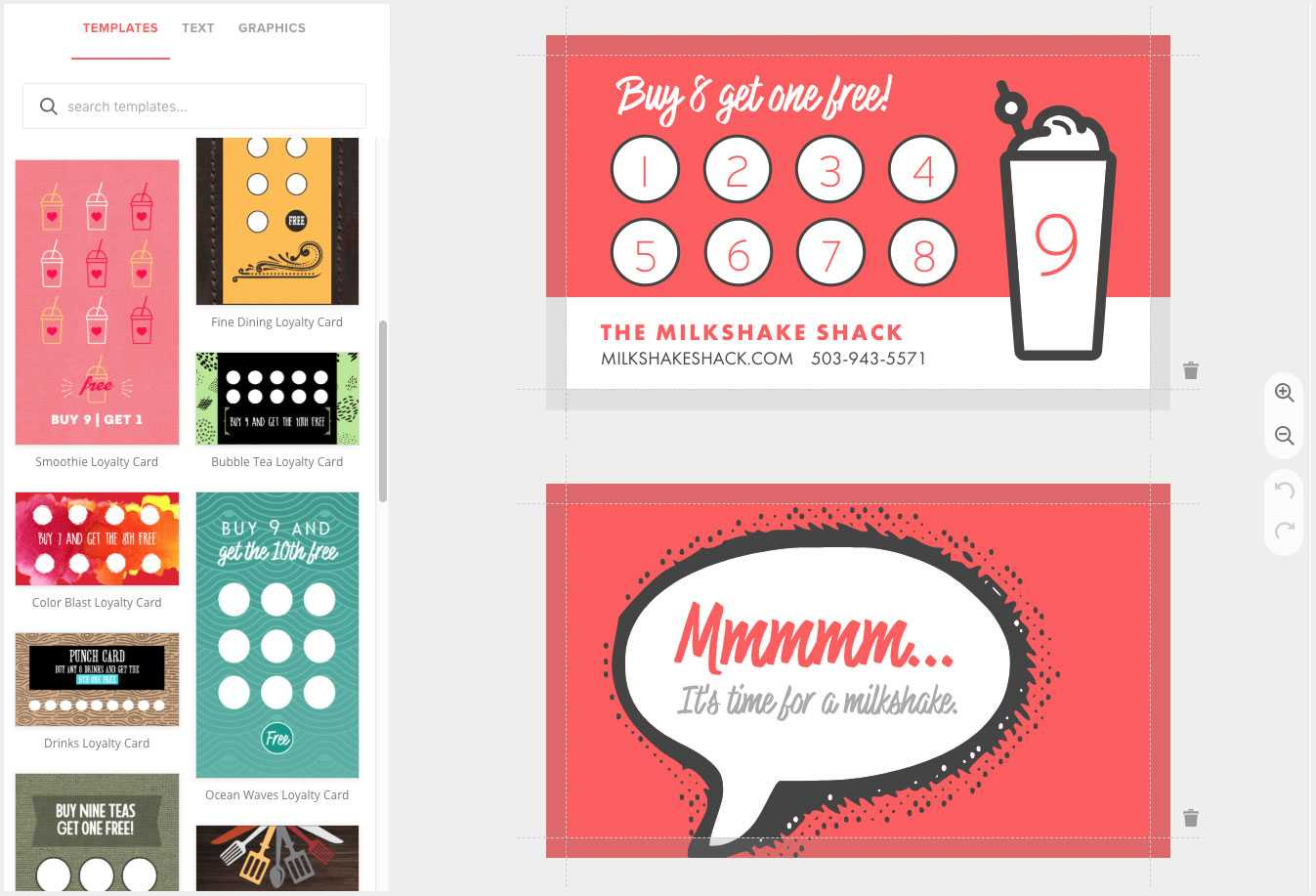 Loyalty Card Maker, Custom Punch Cards - Musthavemenus Within Reward Punch Card Template