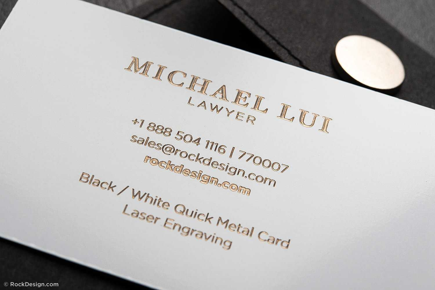 Luxury Metal Law Firm Free Black And White Business Card Pertaining To Legal Business Cards Templates Free