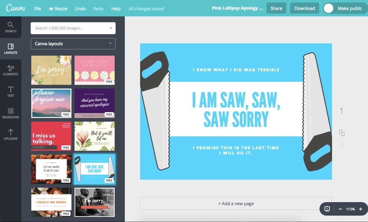Make Custom Sorry Cards For Free With Canva In Sorry Card Template