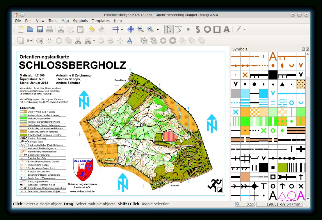 Mapper | Openorienteering For Orienteering Control Card Template