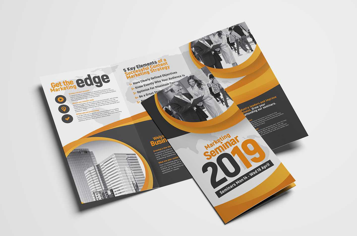 Marketing Seminar Tri Fold Brochure Template - Psd, Ai & Vector Throughout 3 Fold Brochure Template Psd