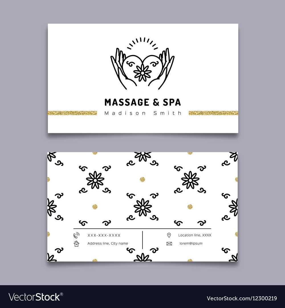 Massage And Spa Therapy Business Card Template With Regard To Massage Therapy Business Card Templates