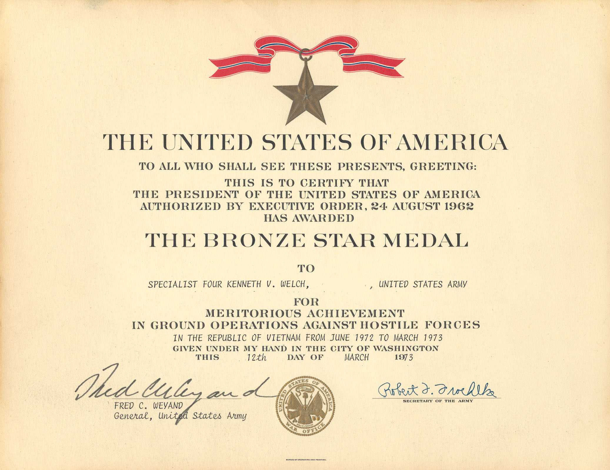 Medals Intended For Army Good Conduct Medal Certificate Template