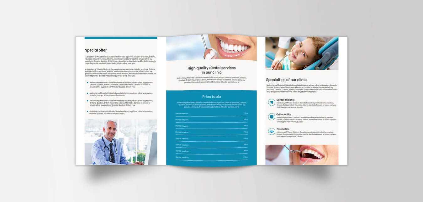 Medical Brochure Design – Creative Medical Office Brochure Within Medical Office Brochure Templates