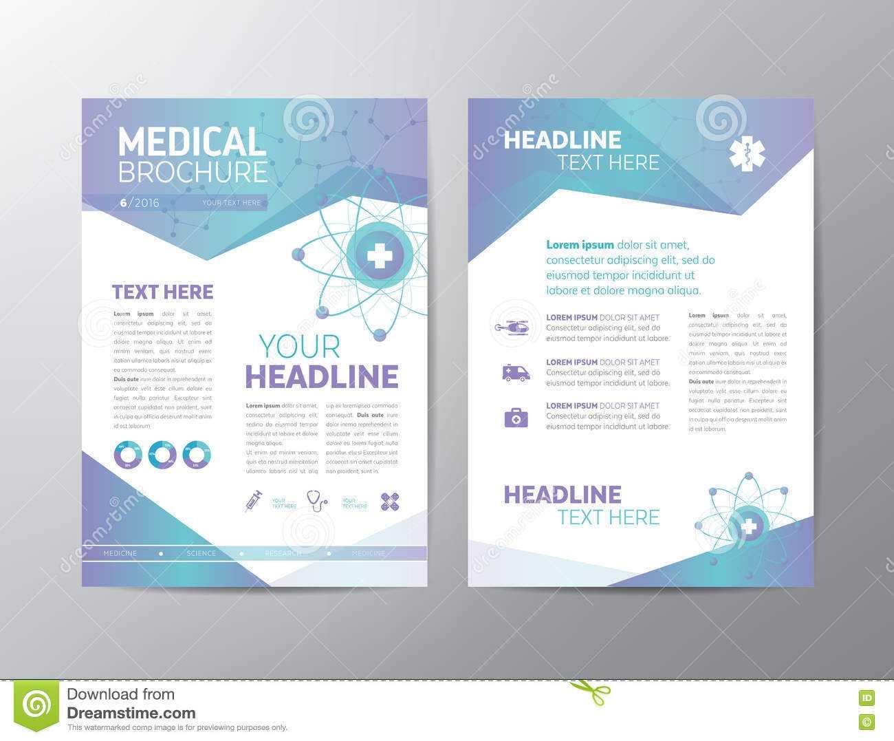 Medical Brochure – Leaflet Stock Vector. Illustration Of For Healthcare Brochure Templates Free Download