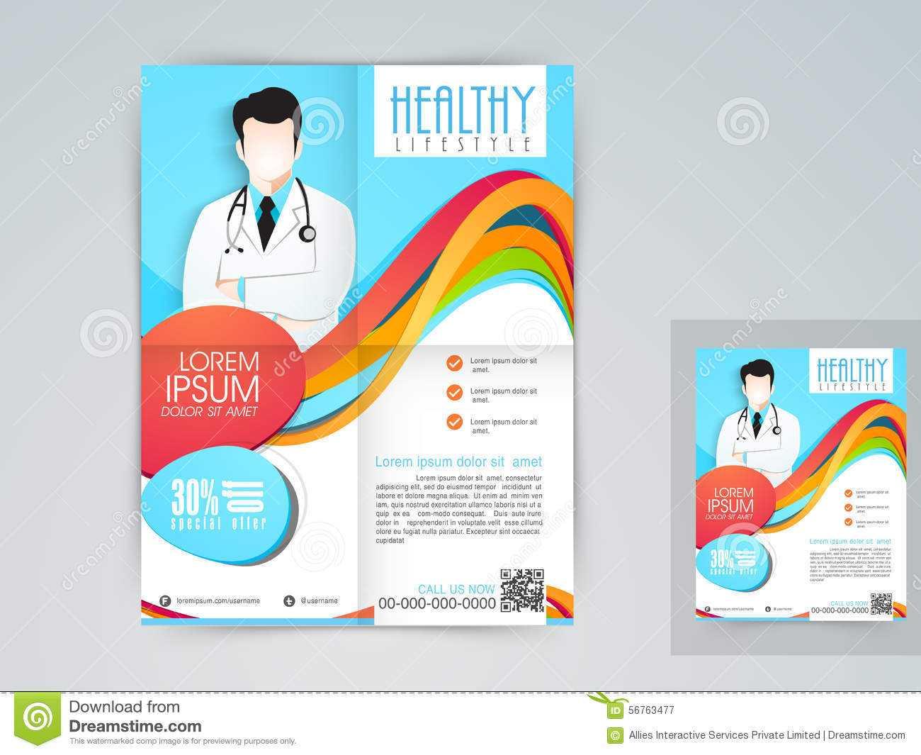 Medical Flyer, Banner Or Brochure. Stock Illustration Intended For Healthcare Brochure Templates Free Download