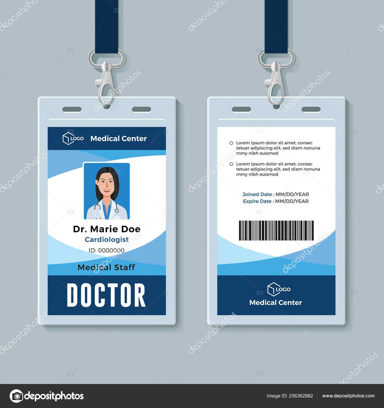 Medical Id Cards Template | Doctor Id Badge. Medical For Doctor Id Card Template