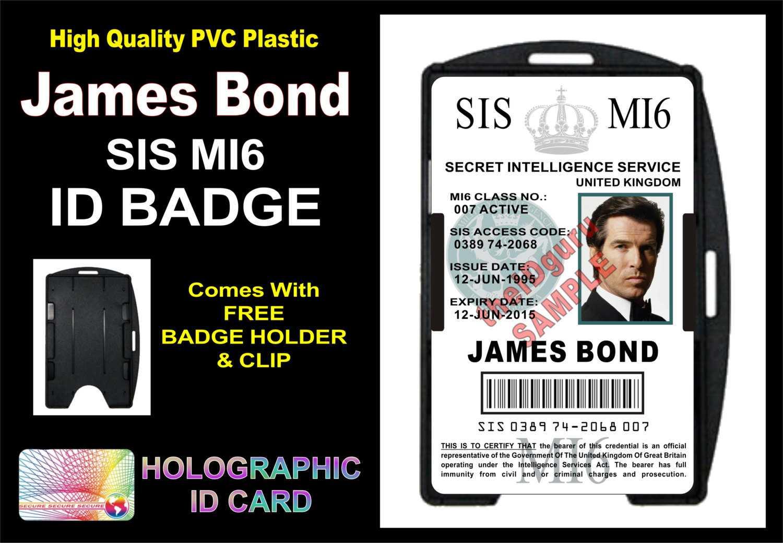 Mi6 Id Card Template ] - James Bond 007 Mi5 Id Badge Card Gt With Mi6 Id Card Template