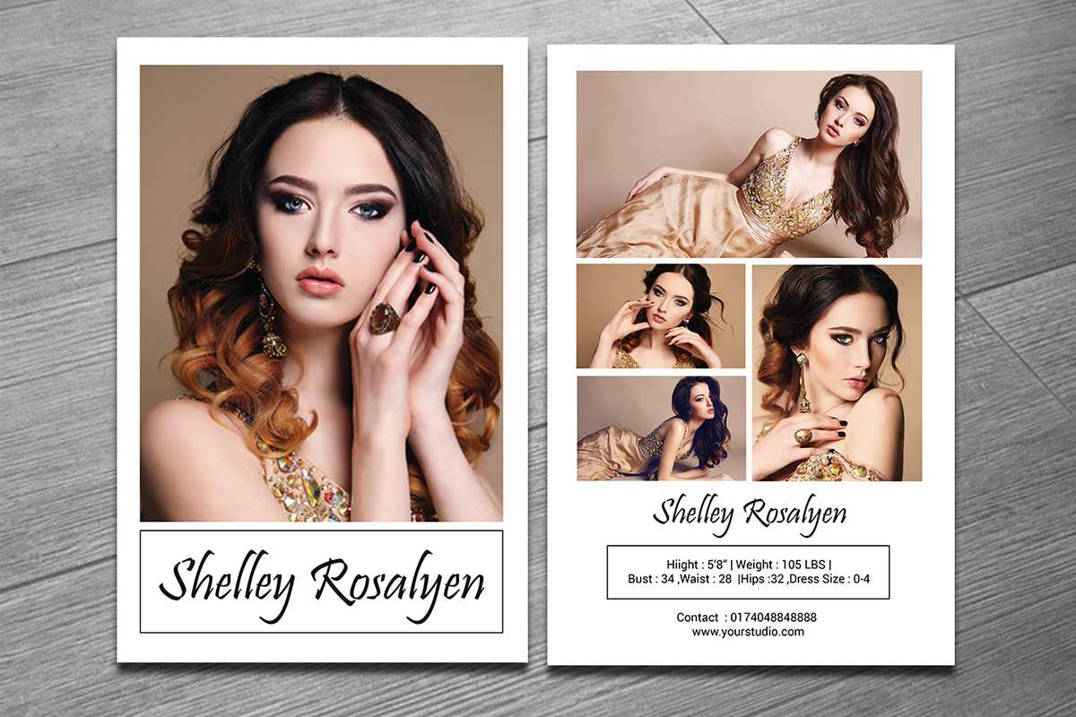 Modeling Comp Card Template On Behance In Zed Card Template