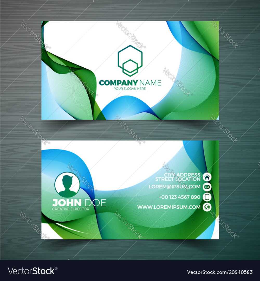 Modern Business Card Design Template With Intended For Modern Business Card Design Templates