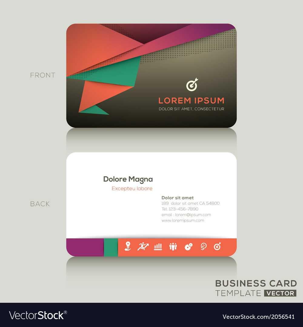 Modern Business Cards Design Template Pertaining To Modern Business Card Design Templates