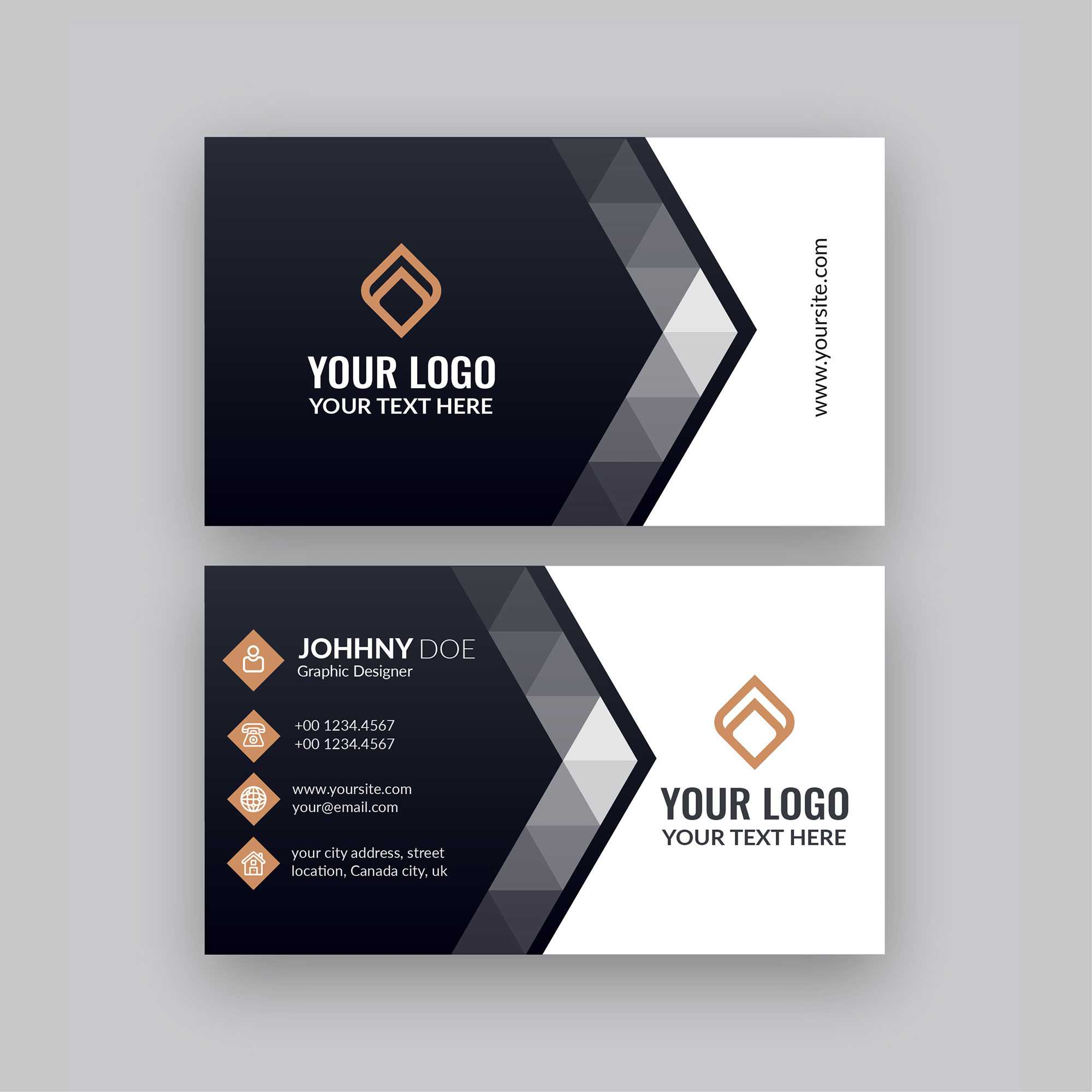 Modern Company Visiting Card Template | Free Business Card Within Designer Visiting Cards Templates