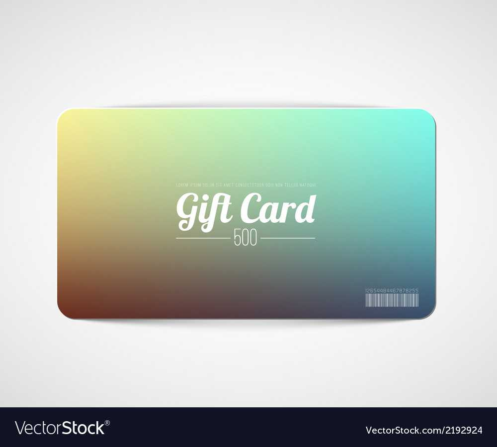 Modern Simple Gift Card Template Throughout Gift Card Template Illustrator