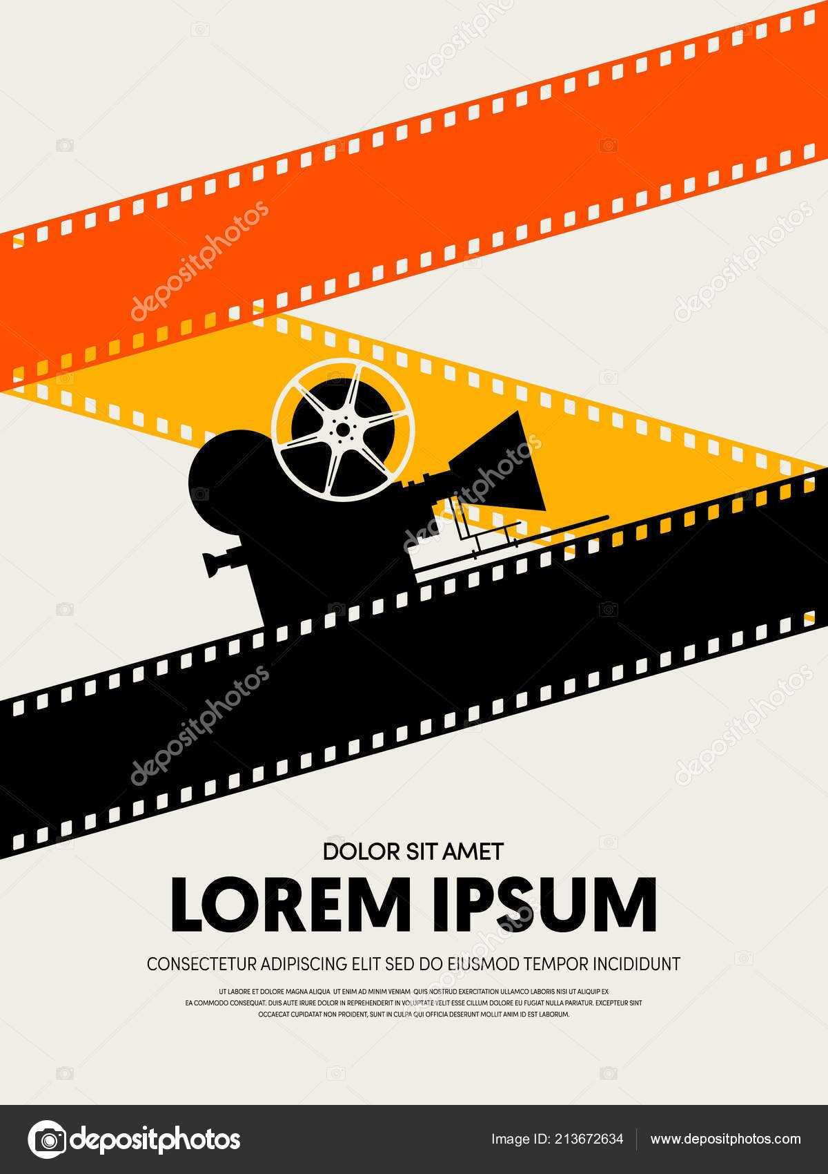 Movie Film Festival Poster Template Design Modern Retro With Film Festival Brochure Template