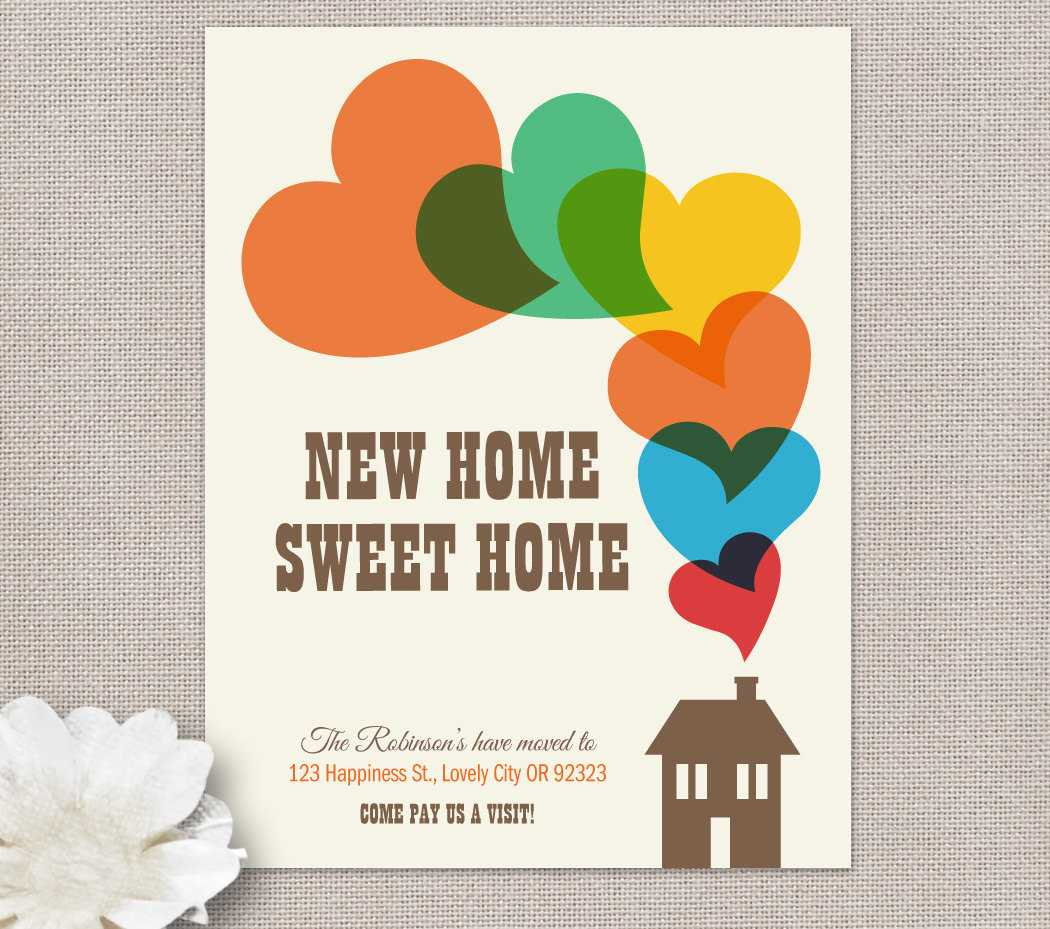 Moving Home Cards Template ] - Change Of Address New House In Moving Home Cards Template