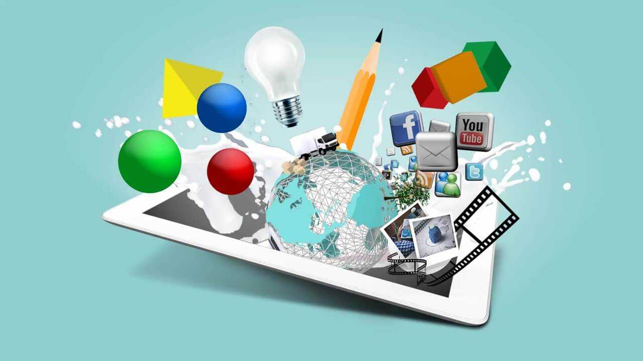Multimedia Design Presentation Template | Prezibase Regarding Multimedia Powerpoint Templates