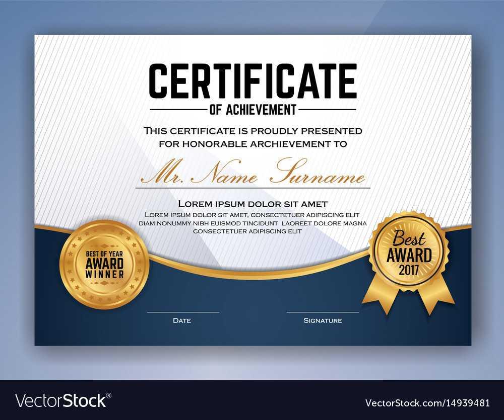 Multipurpose Professional Certificate Template For Professional Award Certificate Template