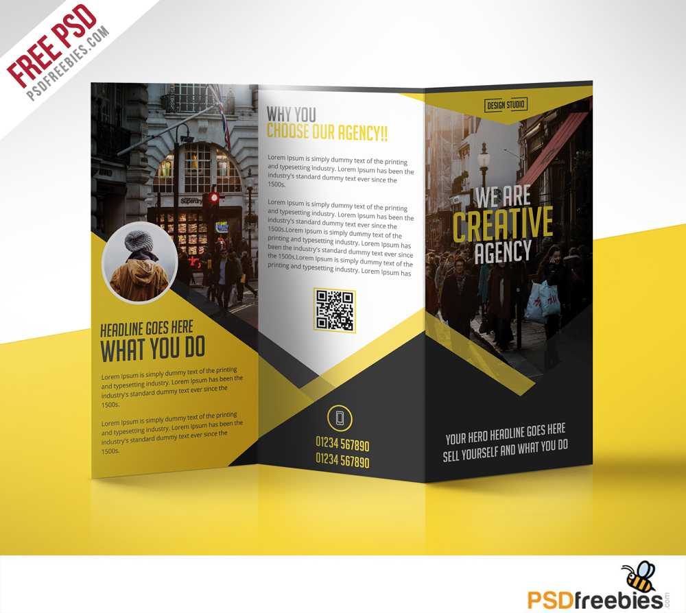 Multipurpose Trifold Business Brochure Free Psd Template Within Free Tri Fold Business Brochure Templates