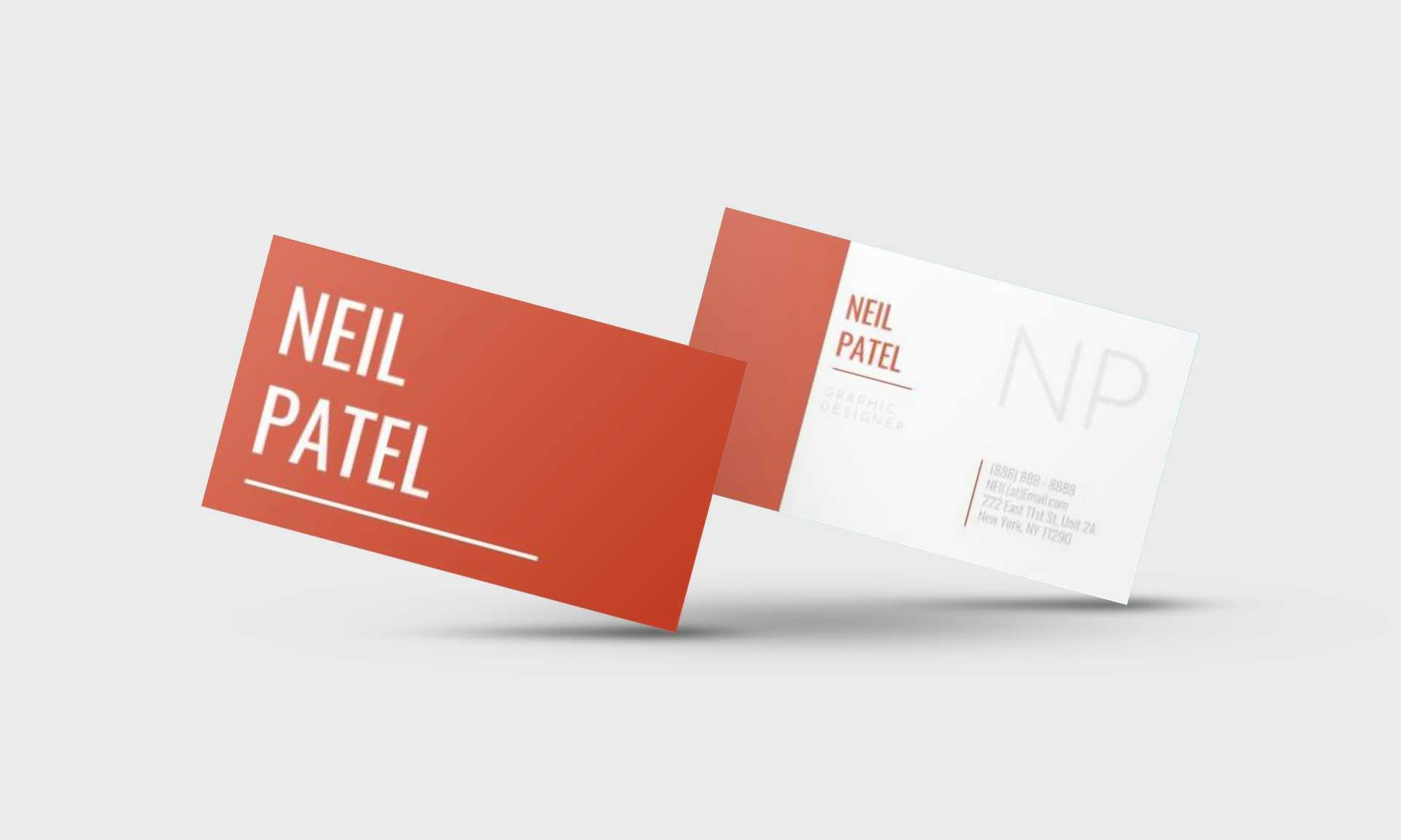 Neil Patel Google Docs Business Card Template - Stand Out Shop Regarding Google Docs Business Card Template