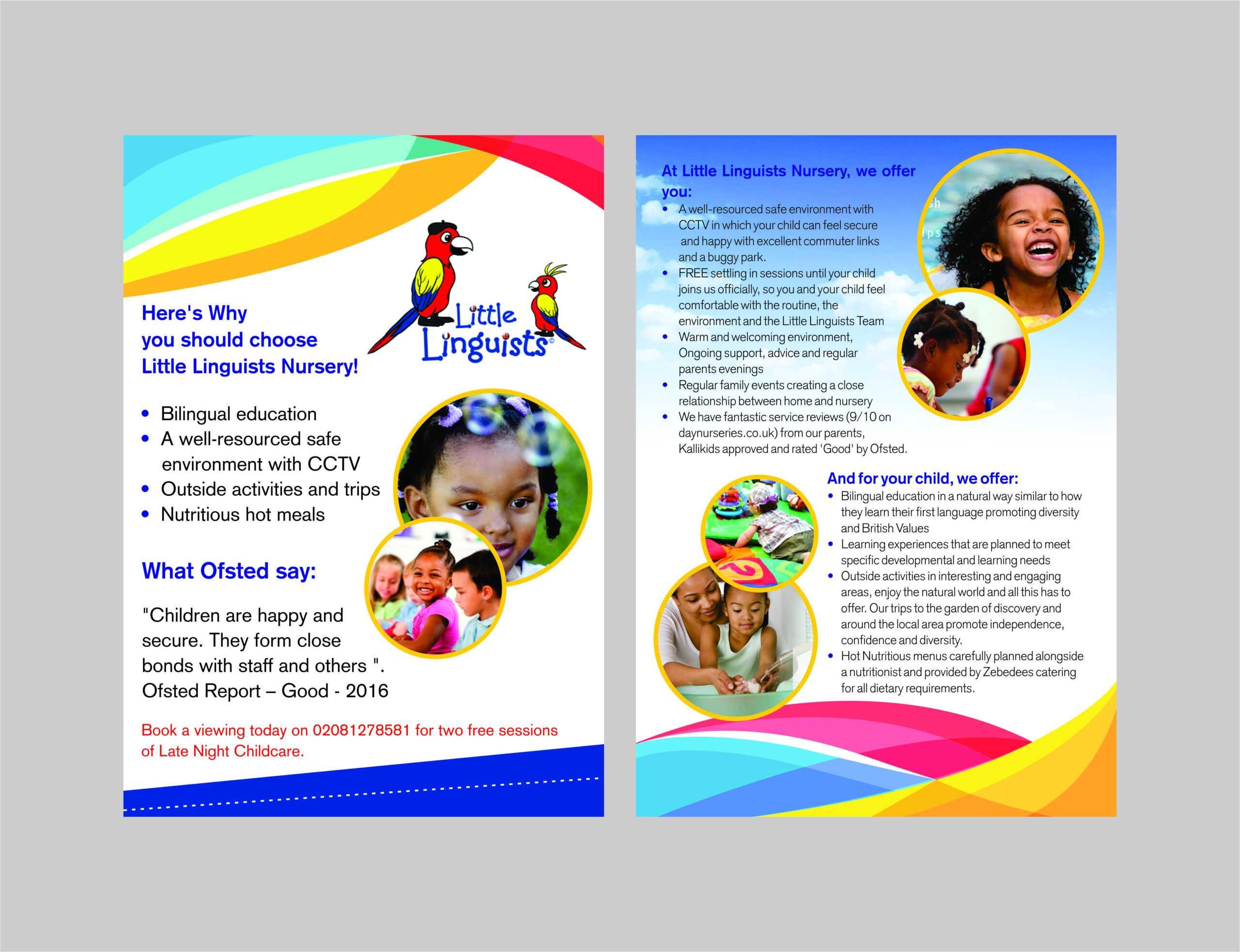 Nursery School Brochure - Tunu.redmini.co With Regard To Play School Brochure Templates